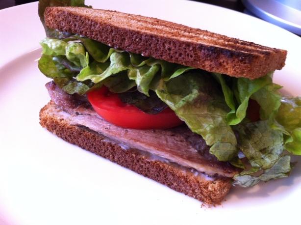 Alz BLT: Brisket, Lettuce and Tomato