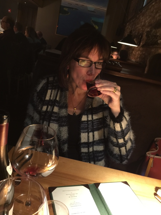 My wife enjoyed a sip of my Pappy's as well.
