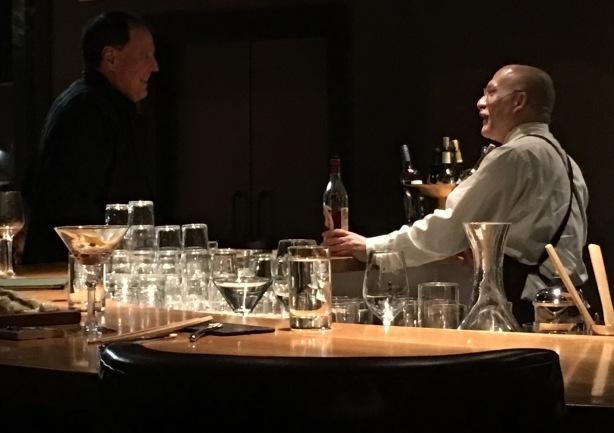 A bourbon conversation between my newest best friend, Paul and myself.