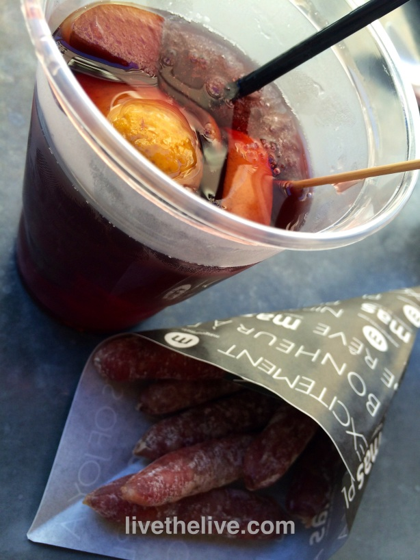House-made sangria and little salamis served up like french fries.