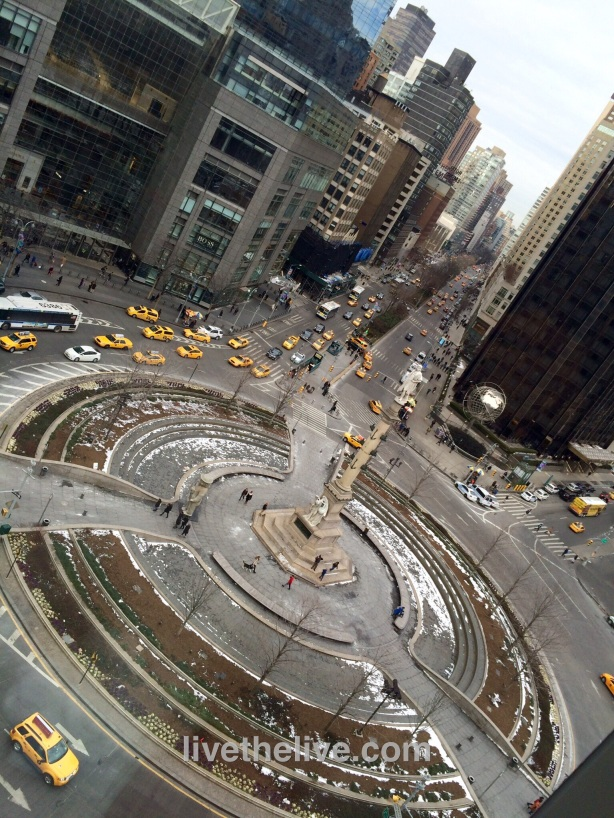 A view of Columbus Circle from Robert.