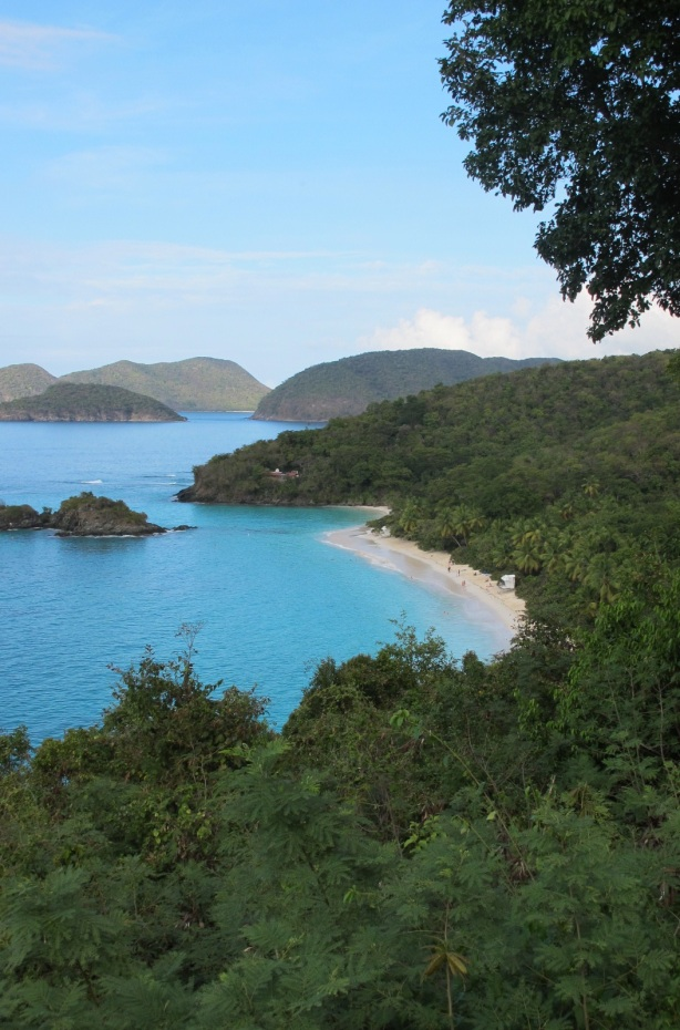 Money shot: a view of Trunk Bay from the cliffs above.