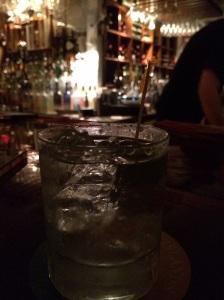 The first sip. At Morgan's Mango.