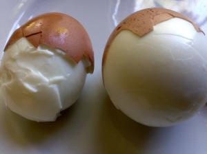 New egg (left.) Older egg (right.)