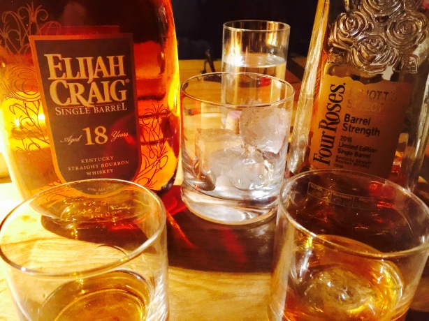 Bourbon tastings.