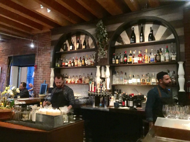 The bar at Solo.